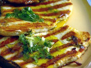 Grilled Swordfish with Lemon Mint and Basil  Recipes