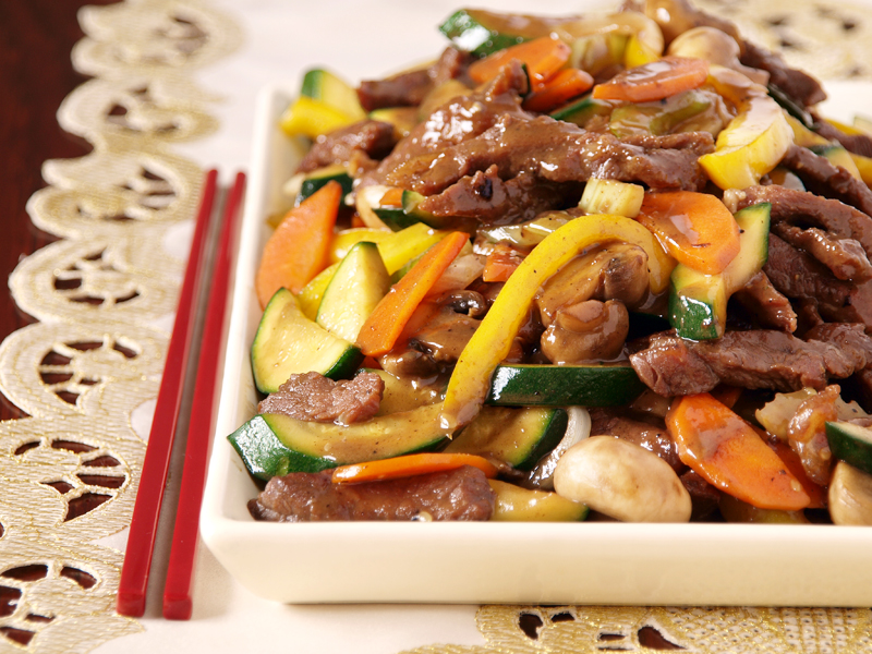 9b5348160506 Stir Fried Beef with Courgettes and Capsicum – eRecipe