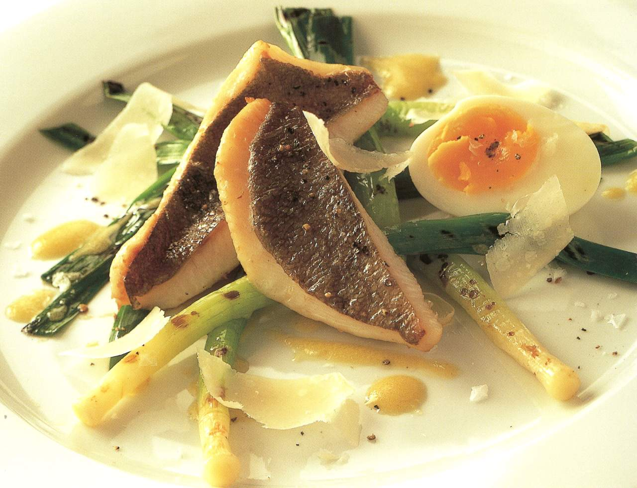 John dory with soft boiled egg leeks and mustard for John dory recipe