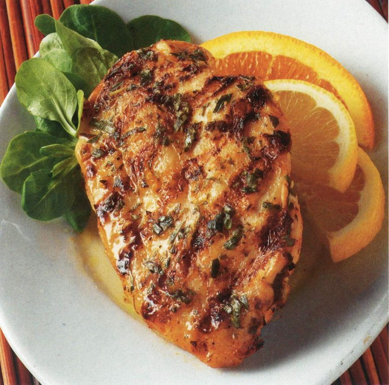 Spanish Chicken Breasts Marinated In Citrus And Tarragon