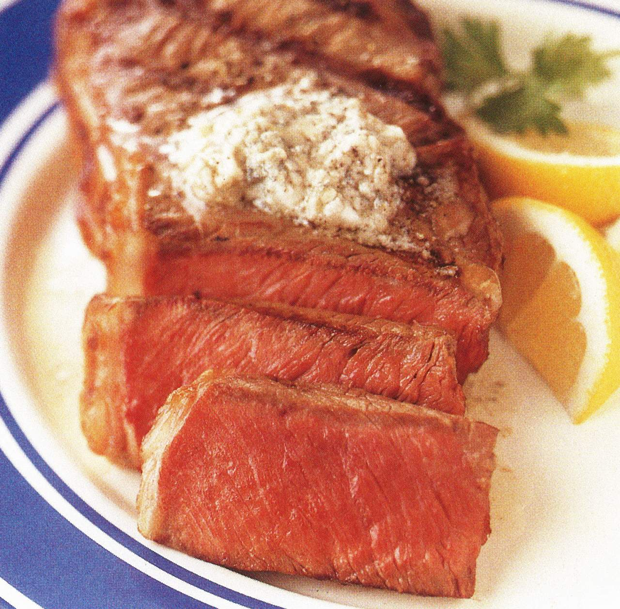 New York Steaks with Blue Cheese Butter – eRecipe