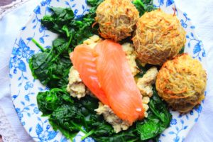 Smoked Salmon & Scrambled Egg With Healthy Hash Browns