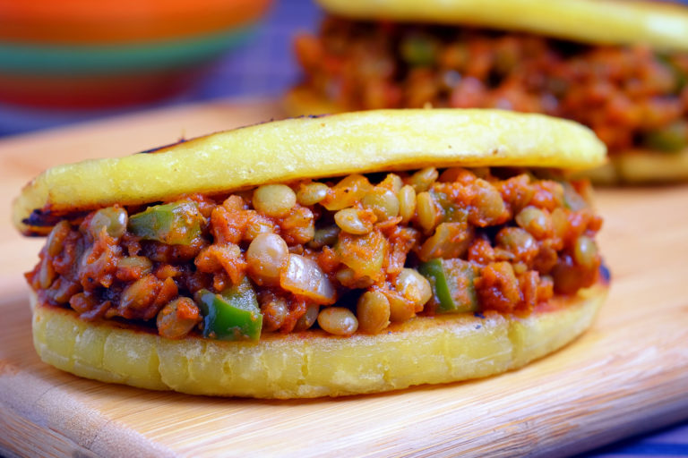 Lentil Sloppy Joes in Plantain Buns
