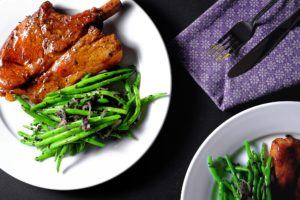 Orange Marmalade Glazed Chops