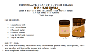 CHOCOLATE PEANUT BUTTER SHAKE BY: LMKNSA
