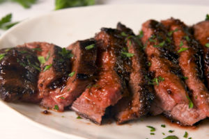 Skirt Steak with Garlic Butter