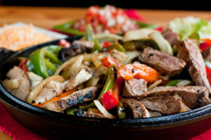 Steak with onions and peppers