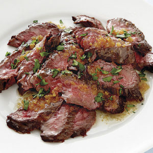 Flank Steak with garlic