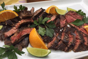Spicy grilled skirt steak